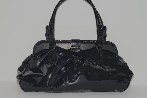 Giorgio Armani Black Patent Leather Bag (www.Lenchylux.com)