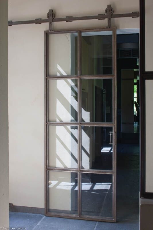 Glass and metal sliding doors #interiordesign #design #interiors #bespoke #homes #designer