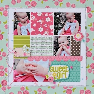 Lynn Ghahary for Pebbles--just lovely!: Floral Lane, Scrapbook Inspiration, Girls Layout, Scrapbook Galleries, Scrapbook Idea, Lynn Ghahari, Sweet Girls, Scrapbook Layout For Girls, Pebble Floral