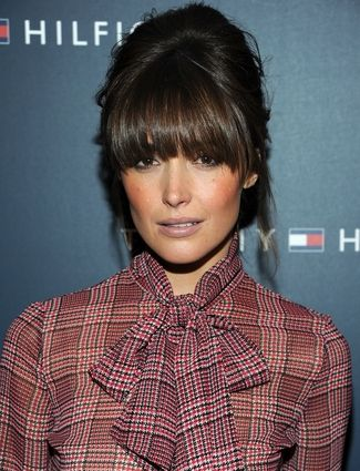The Best Bangs For Your Face Shape - Makeover Not this MUCH, though. Wispier, and only tapering forward from edges of eyebrows.