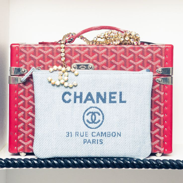 A little CHANEL junk in the Goyard trunk.