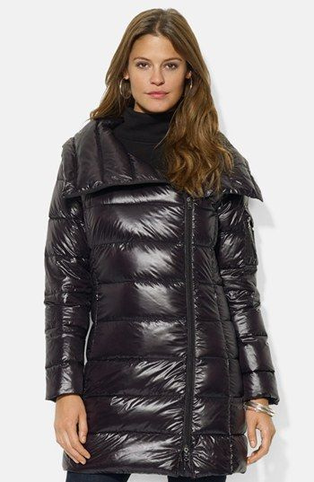 LAUREN RALPH LAUREN | Asymmetrical Down Jacket, Double Face Grey.