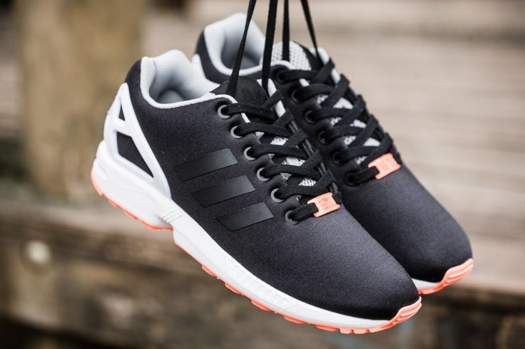 #adidas ZX Flux Black Orange #sneakers