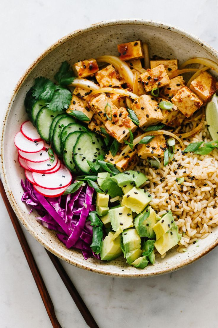 TOFU POKE BOWL RECIPE (VEGAN + EASY