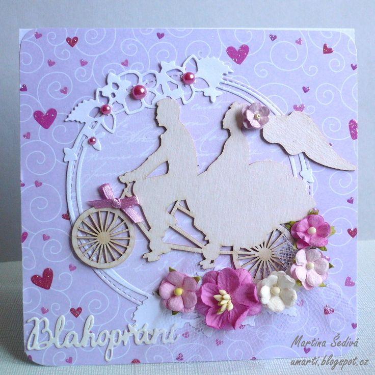 card - pink - wedding