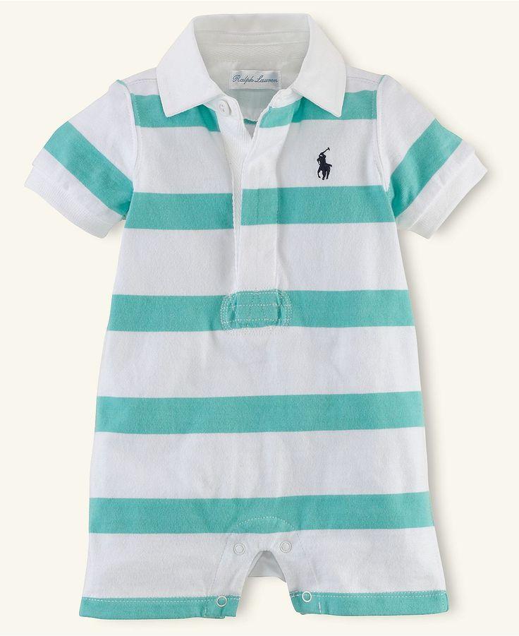 Ralph Lauren Baby Romper, Baby Boys Rugby Shortall - Kids - Macy's