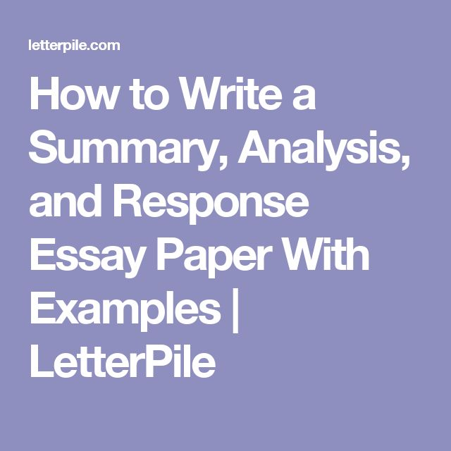 examples of summary essays