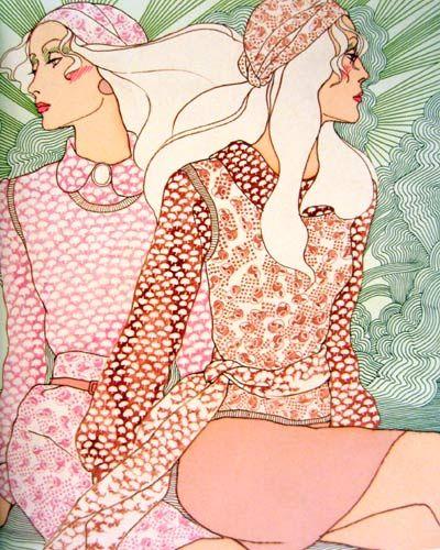 Great fashion illustrations by Antonio Lopez.