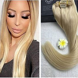 """20"""" Clip In Indian Human Hair Extensions-140g 
