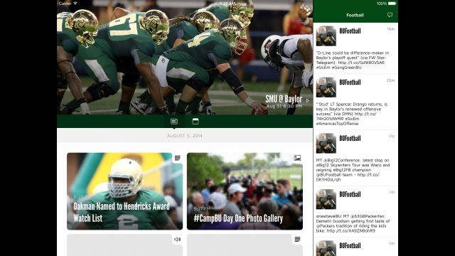 #Baylor In-Game App to provide live stats, in-stadium video replays from multiple angles at McLane Stadium.