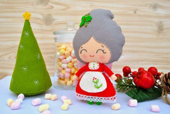 #felt #Christmas #minimez #etsy #santa #tree #baby #noialand #nursery #decor #gift