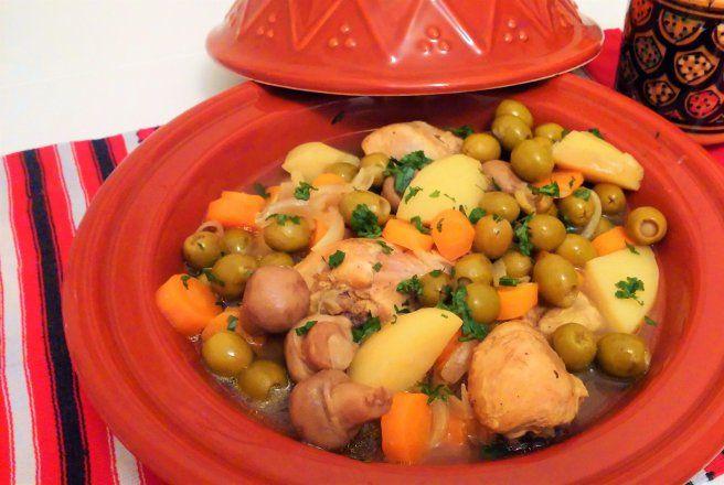 Retete Culinare - Mancarica de masline cu pui si ciuperci -tajine bi zeitoun