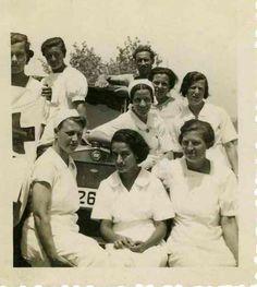Enfermeras voluntarias holandesas durante la guerra civil española.