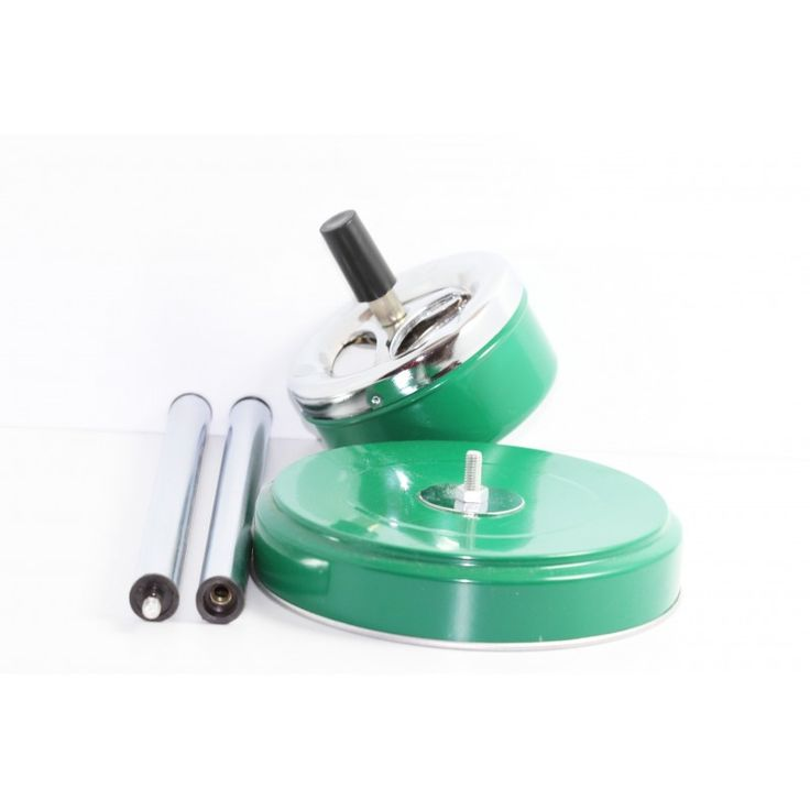 Cenicero Verde Cilinrdo