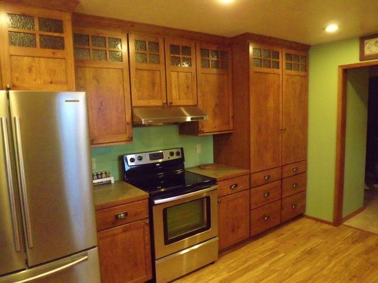 Craftsman Style Cabinets | Mission Style Kitchen Cabinet Doors Just  Completed Craftsman Style .