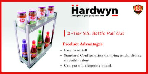 2-Tier S.S. Bottle Pull Out
