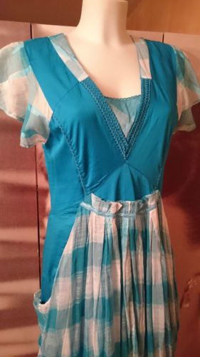 ALL-BEAUTIFUL-by-ENJOY-Robe-turquoise-TAILLE-42-Valeur-boutique-107-REF117-1