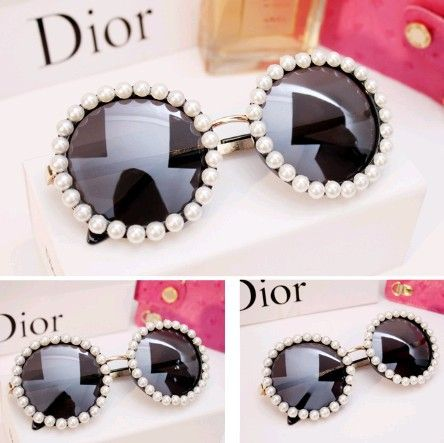 Star Pearl sunglasses women brand designe 2014 fashion beach round metal sunglasses woman sun glasses mirror  a68 $441,98