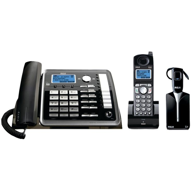 Rca 2-line Expandable Corded And Cordless And Headset Phone System With Caller Id & Answerer