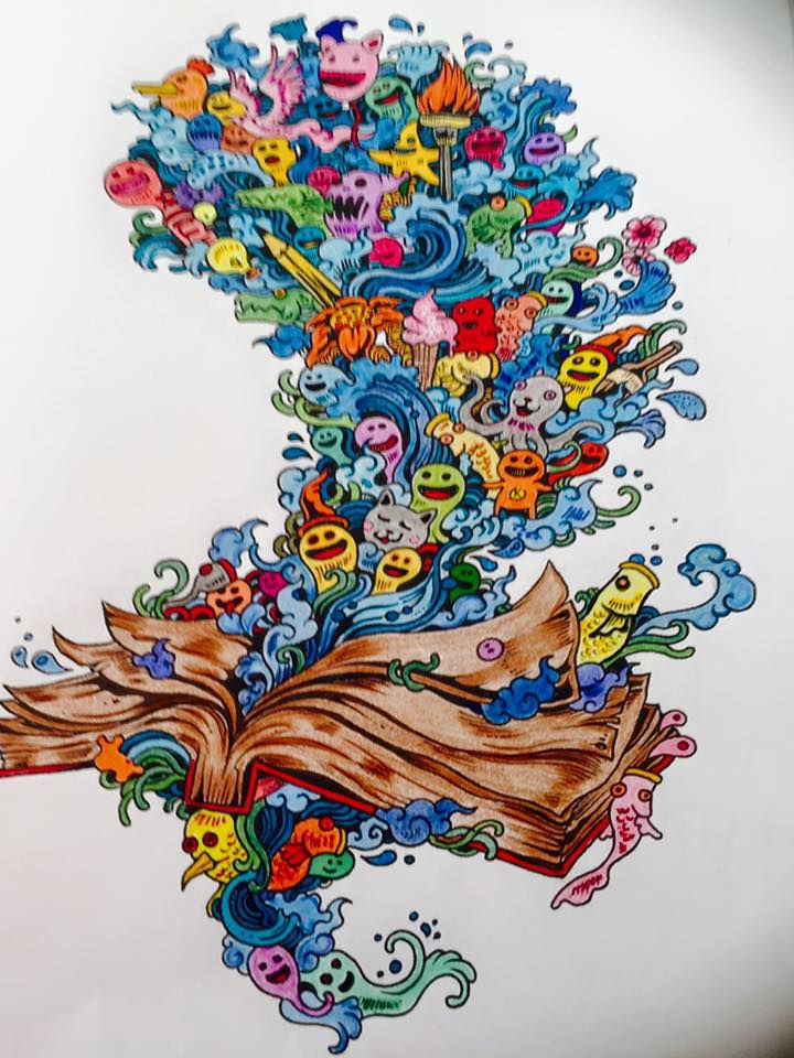 Coloured By Jeanne M Wilcox From Colouring Book Doodle Invasion
