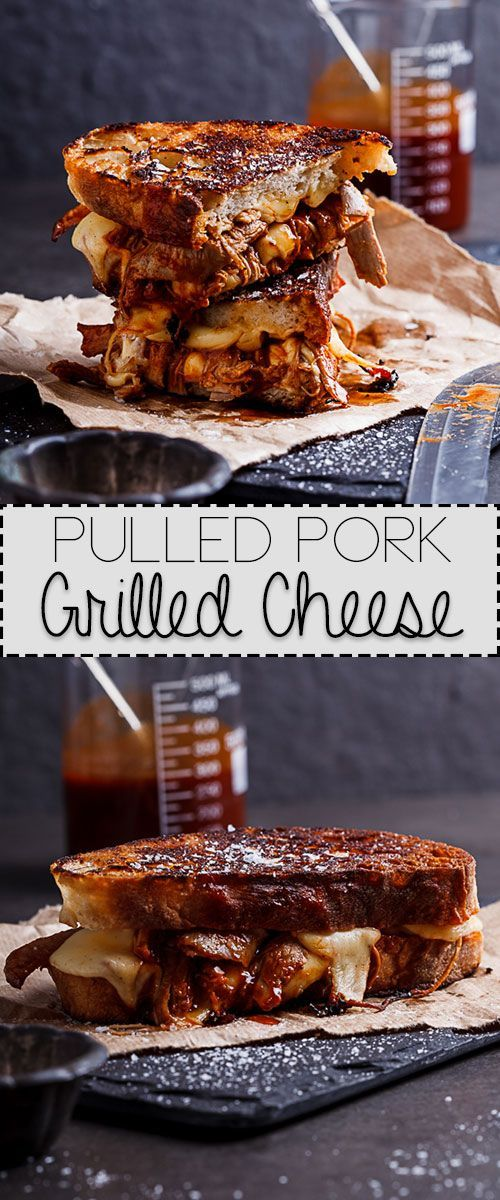Pulled pork in tangy barbecue sauce with oozy cheese makes this grilled cheese the ultimate.