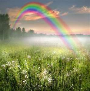 Genesis 9:13-16   The Rainbow was set in the clouds by God as an everlasting covenant between God and man that all flesh would never again be destroyed by the waters of a flood.