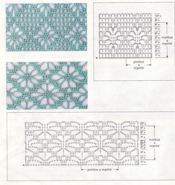 Подборка узоров для вязания летних изделий крючком