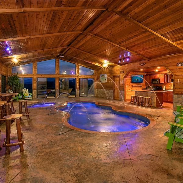 Vacation Cabin In Pigeon Forge Indoor Pool Design Indoor Pool Tennessee Cabins