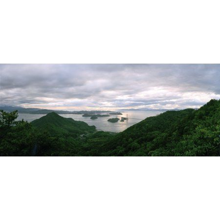 Mt Kiro Observatory Park viewed from mountain Imabari Ehime Prefecture Japan Canvas Art - Panoramic Images (9 x 27)