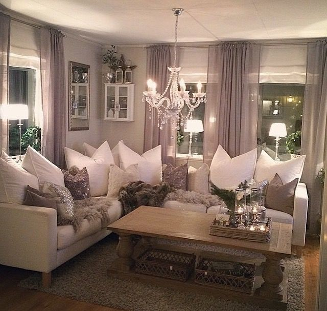 Cozy, Comfy, Chic, Glam, Sexy But No To Wooden Table And Glittery Pillow  And More Heavy Sturdy Curtains
