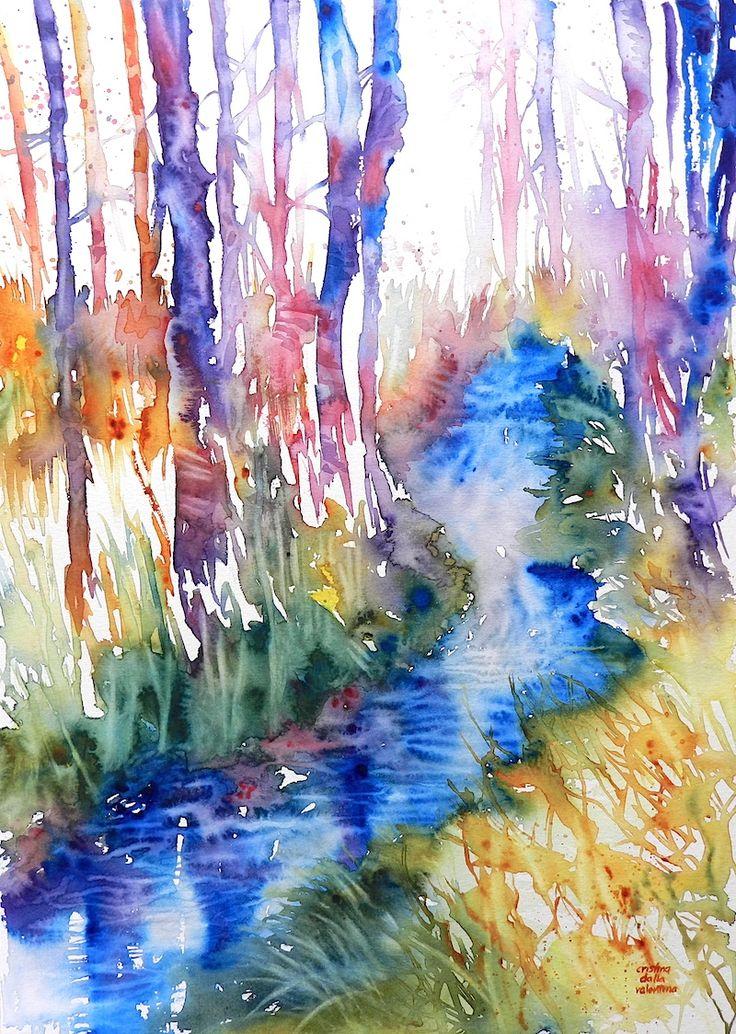 Cristina Dalla Valentina Art: Torrente nel bosco - Creek in the Woodland - www.cristinadallavalentina.com