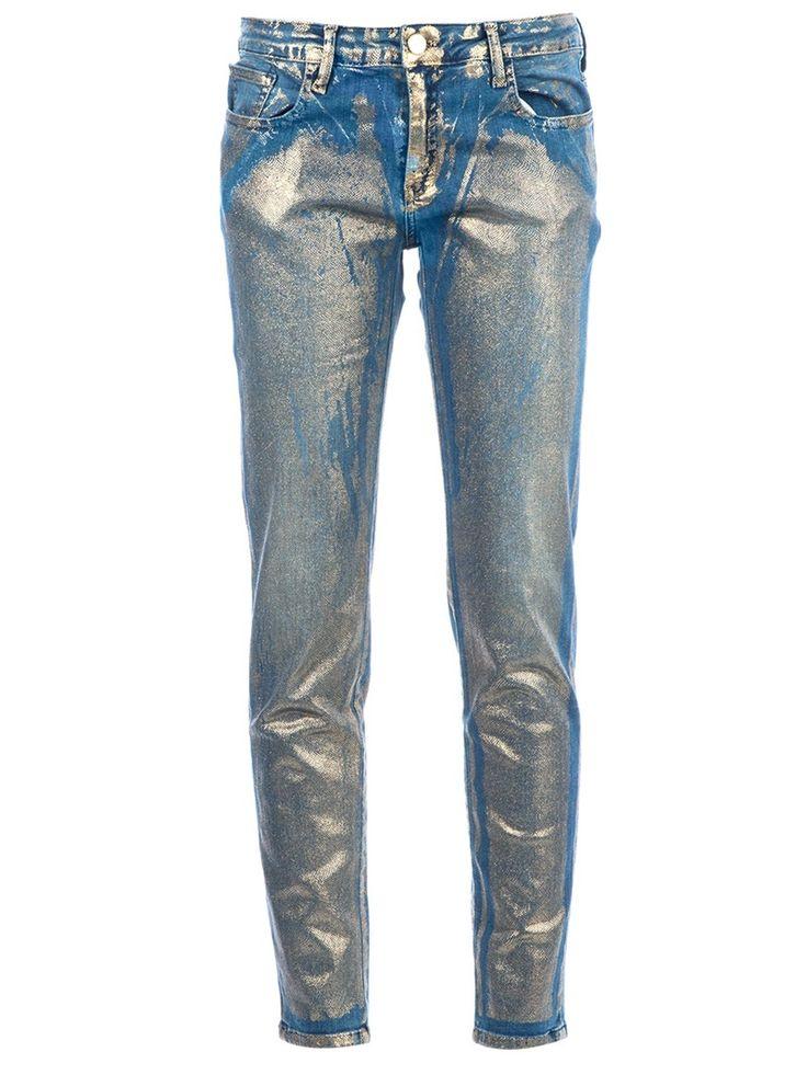 75 FAUBOURG metallic print jeans