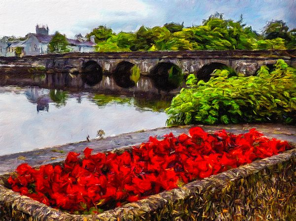 A calm evening on the flowery Shannon River waterfront at Roosky, County Roscommon, ‪#‎Ireland‬. This artwork is a digital interpretation of one of my original images. Checkout the full-sized image here: http://www.jamesatruett.com/jpkv
