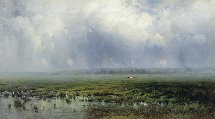 Marshland. 1885  Kryzhitskii, Konstantin Iakovlev  Painting Reproductions