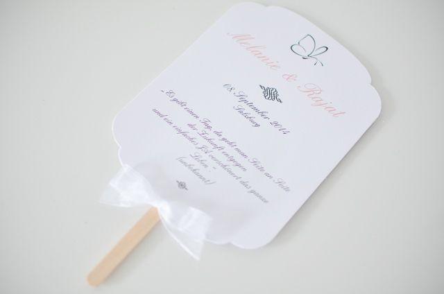 Gastgeschenke - Fächer - Programmheft Gastgeschenk Hochzeit - ein Designerstück von little-pink-butterfly bei DaWanda