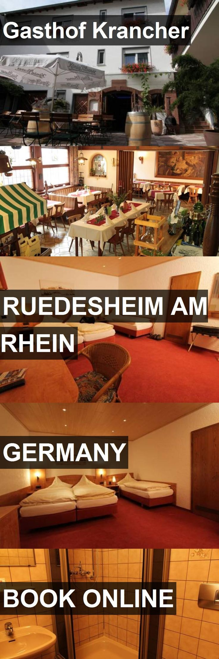 Hotel Gasthof Krancher in Ruedesheim am Rhein, Germany. For more information, photos, reviews and best prices please follow the link. #Germany #RuedesheimamRhein #travel #vacation #hotel