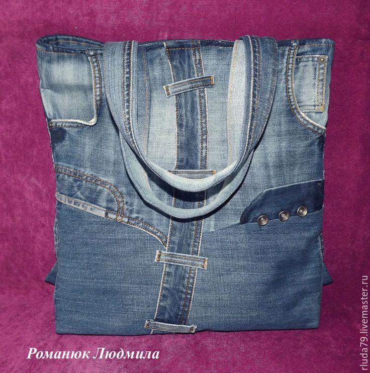 """Купить Джинсовая сумочка """"Ты и я"""" - синий, джинсовая сумка на лето, романюк людмила"""