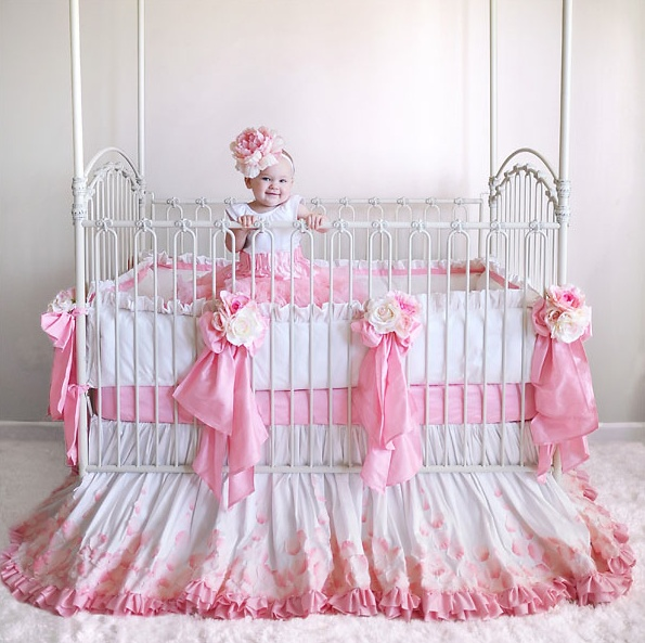 Wow ! Talk about over the top!! Gorgeous, Girly Baby Bedding