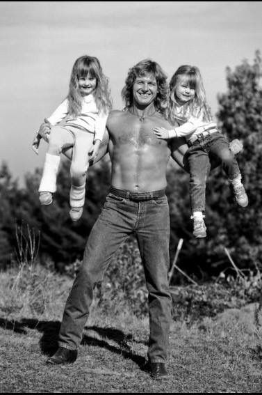 Roddy Piper 1988 with Anastasia and Ariel