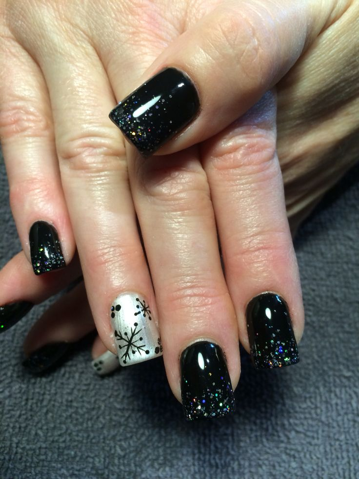 1000+ Ideas About Winter Gel Nails On Pinterest