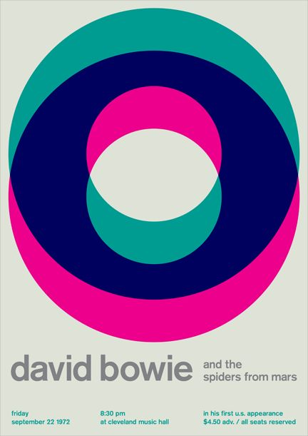 David Bowie [Swissted poster] - Stereotype design c/o Print-Process