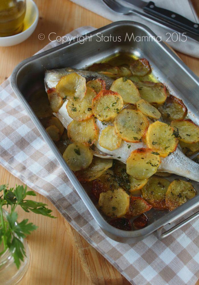 Orata alla pugliese ricetta tipica tradizionale secondo pesce cucinare regionale Puglia semplice economico gustoso con patate Statusmamma Gialloblogs
