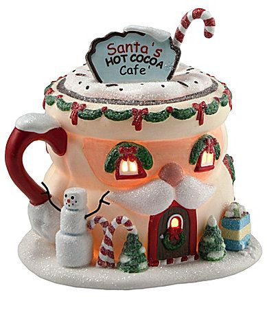 "department 56 north pole series | Department 56 North Pole Series ""Santa´s Hot Cocoa"" Cafe 