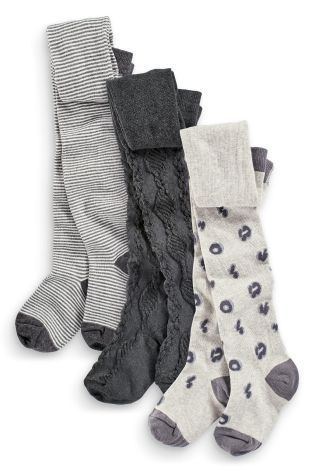 Buy Three Pack Grey Animal Print Tights (3-16yrs) from the Next UK online shop