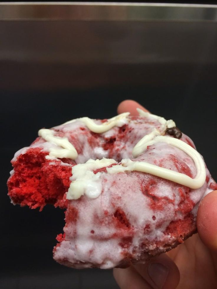 Red Velvet donut from Harold's Doughnuts - Columbia MO