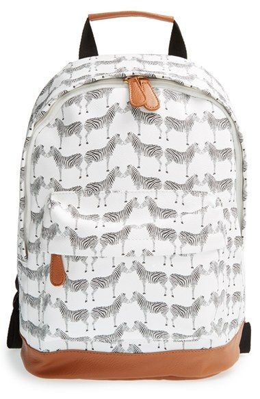 NILA ANTHONY Zebra Print Backpack available at #Nordstrom