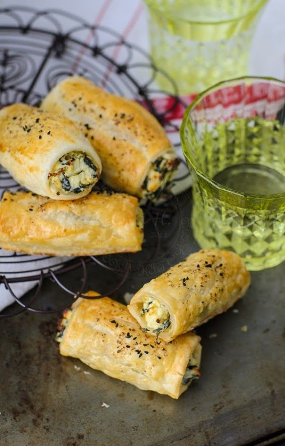 Feta Ricotta Spinach Rolls recipe with 'How to' Video.