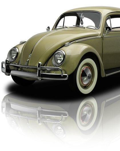 olive specialcar: 1958 Volkswagen Type 1 Beetle