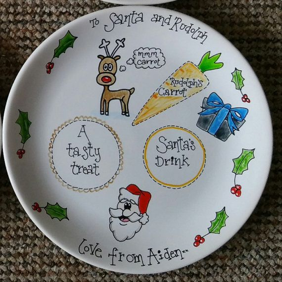 Personalised Christmas Eve Plate by PaigesPaintings1 on Etsy
