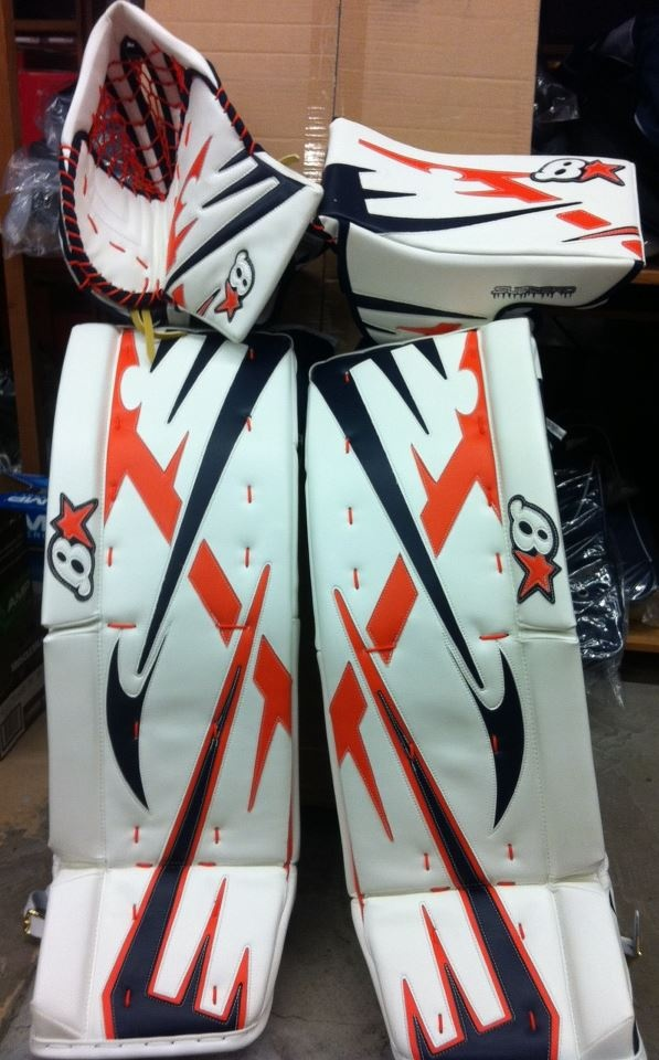 Brians always going above and beyond to satisfy their customers! Order a custom set of pads at http://goalie.totalhockey.com/default.aspx
